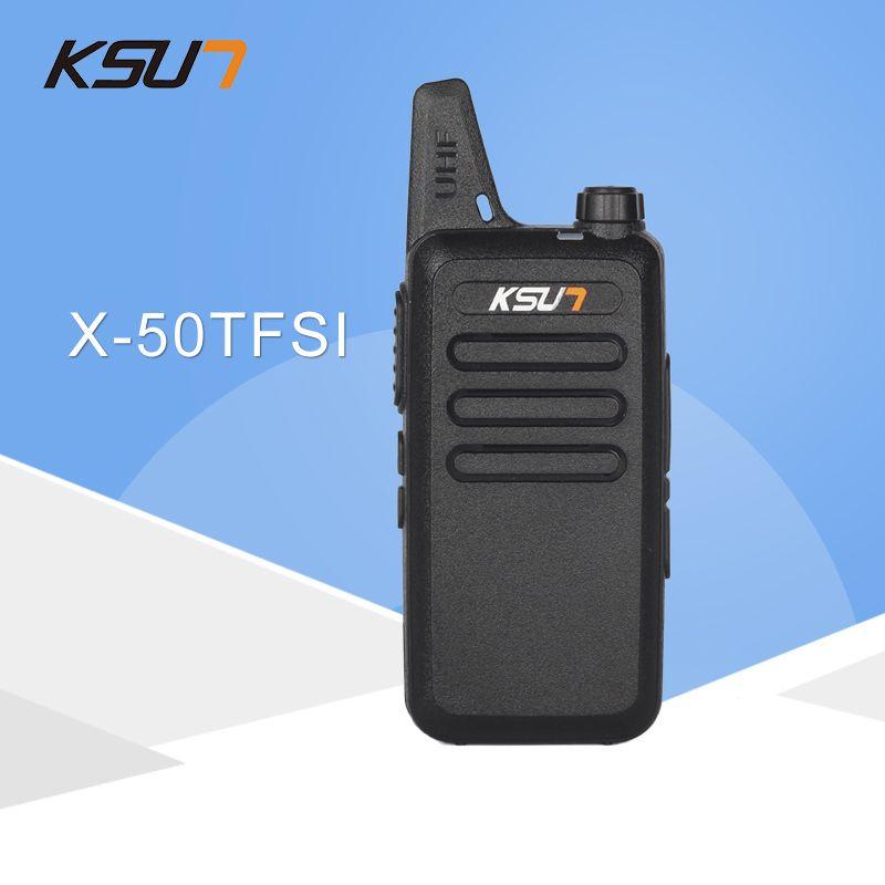 Talkie walkie KSUN X-50TFSI Ham Two Way Radio talkie walkie Dual-Band Transceiver BUXUN X-50 (Noir)
