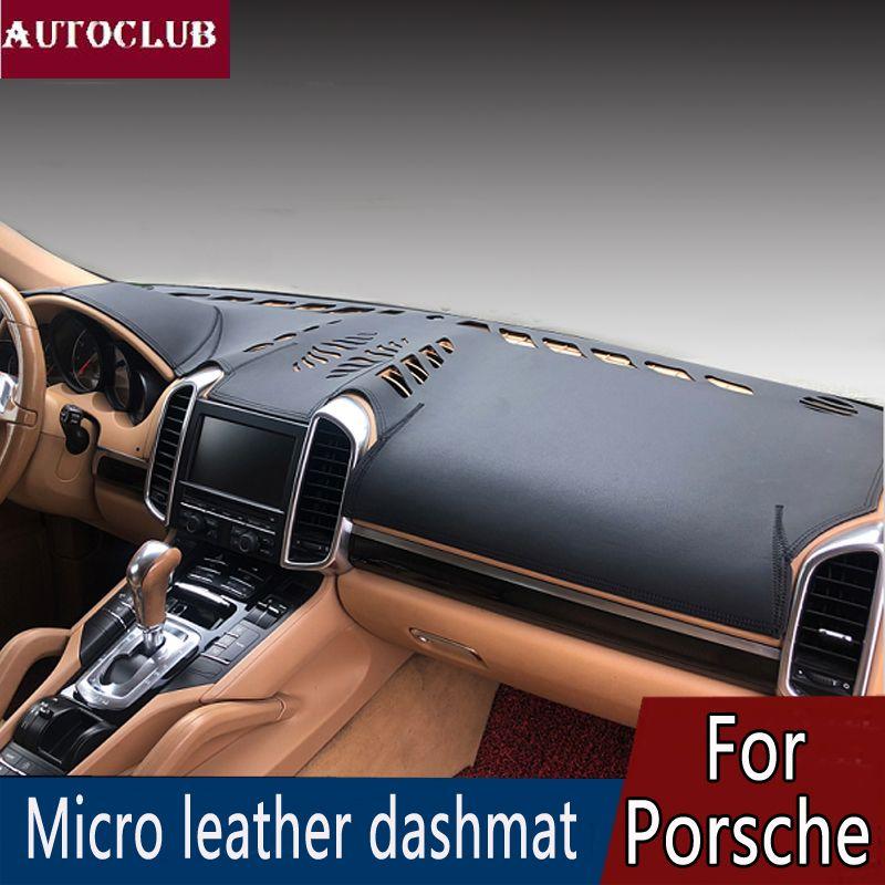 Für Porsche Cayenne Macan Panamera Boxster/Cayman 911 Leder Dashmat Dashboard Abdeckung Verhindern Sonnenlicht Pad Dash Matte Sonne Schatten