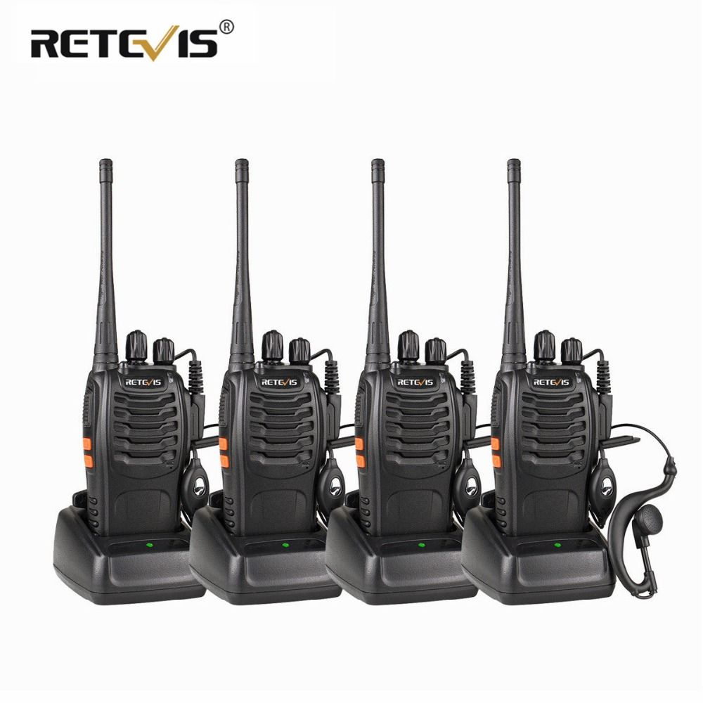 4 pcs Portable Talkie Walkie Retevis H777 16CH UHF Ham Radio Hf Émetteur-Récepteur 2 Voies cb Radio Station Communicateur Talkie -walkie Ensemble