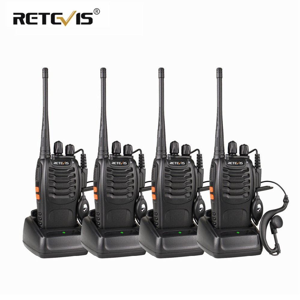 4 pcs Portable Talkie Walkie Retevis H777 16CH UHF Ham Radio Hf Émetteur-Récepteur 2 Voies cb Radio Station Communicateur Talkie -walkie Ensemble