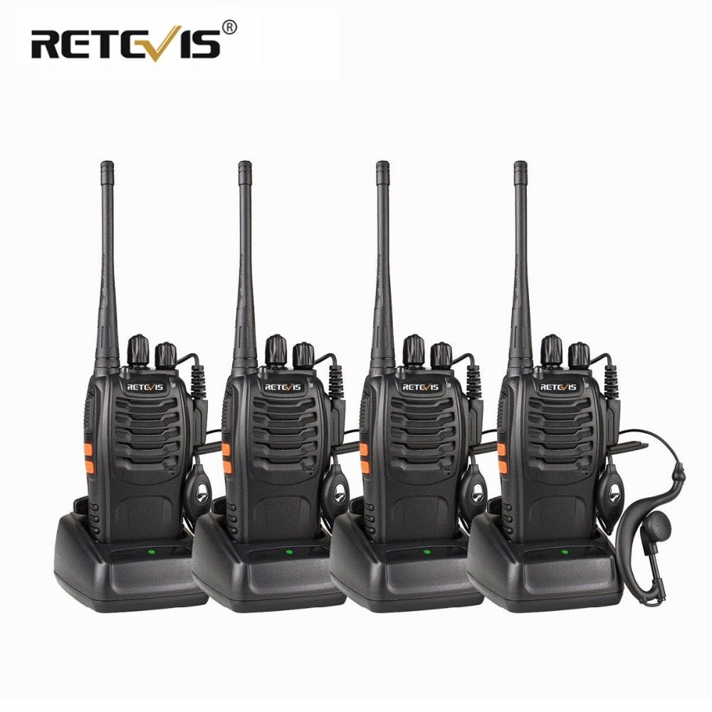 4pcs Portable Walkie Talkie Retevis H777 16CH UHF Ham Radio Hf <font><b>Transceiver</b></font> 2 Way cb Radio Station Communicator Walkie-Talkie Set