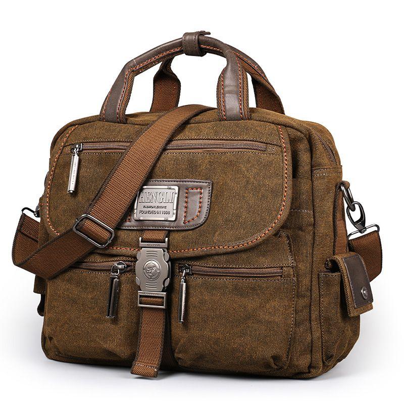 2017 Ruil Retro Canvas Messenger Bags Multifunction Men's Shoulder Briefcase Leisure Travel Handbag Toolkit Vintage Package