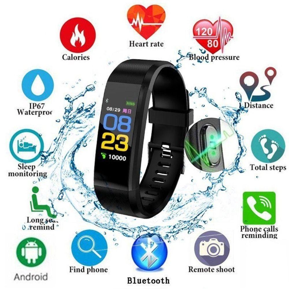 Nouvelle montre connectée Marque homme femme moniteur de fréquence cardiaque Sang Pression montre connectée fitness montre de sport pour ios android + BOÎTE