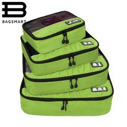 BAGSMART Nouveau Respirant Voyage Sac 4 Set Emballage Cubes Bagages Emballage Organisateurs avec Sac À Chaussures Fit 23