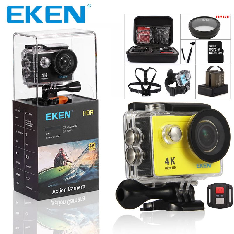 EKEN H9 H9R Ultra HD 4K Camera 4K@25fps Action Camera 30 waterproof 2 inches LCD Screen Wi-Fi Remote Gopro Style Sports Camera