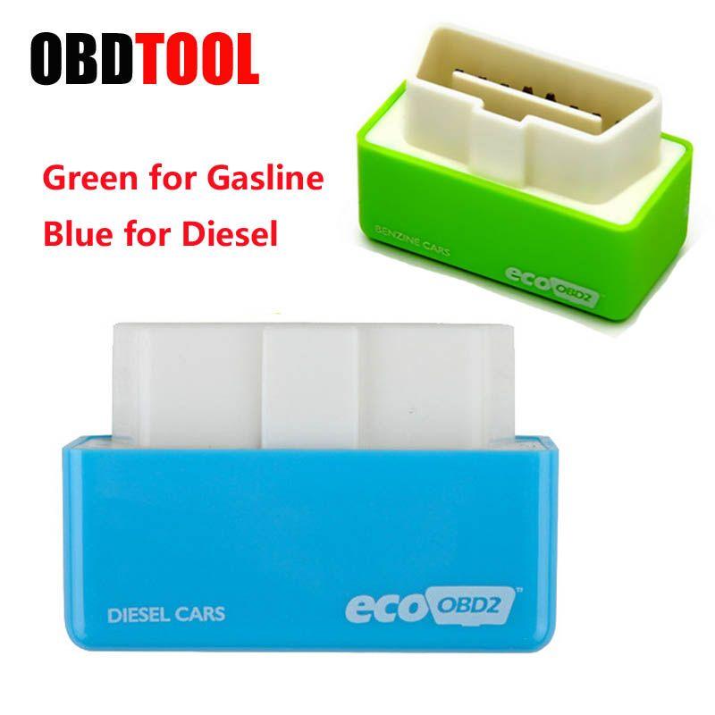 Mini Eco OBD2 Wirtschaft Chip Tuning Box 15% Kraftstoff Sparen für Gasline Diesel Autos Verringern Kraftstoff Verbrauch Stecker und Stick ecoOBD2