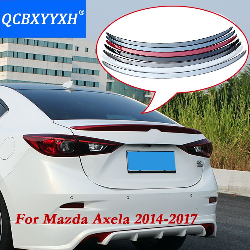 QCBXYYXH 1pc ABS Tail Rear Trunk Spoiler Wing Decoration Cove Car Accessories For Mazda Axela M3 2014 2015 2016 2017