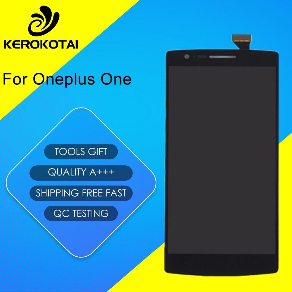 Für Oneplus Ein Original 100% Getestet Gute Qualität LCD-Display Touchscreen Digitizer Montage Einem Plus 1 Lcd Mit rahmen