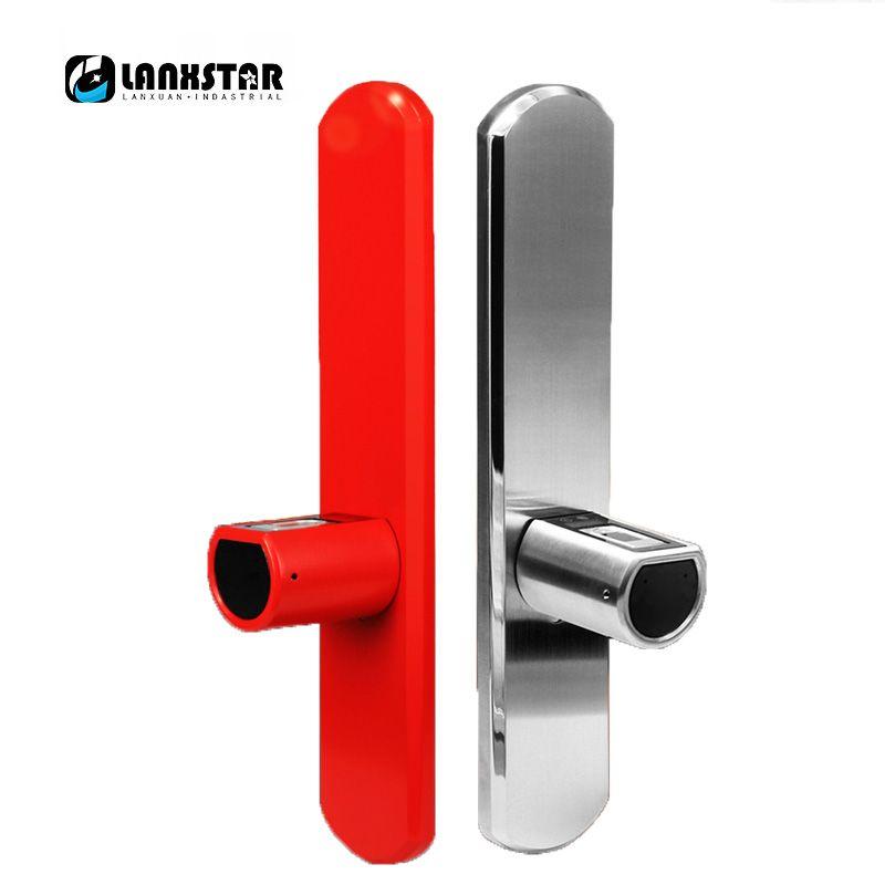 LANXSTAR Neue Luxus Doppel System Intelligente Micro Kern IP44 Bluetooth Fingerabdruck Schleusen APP Elektronische Smart Lockset