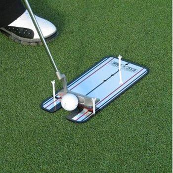 Новый гольф качели прямой Практика Гольф положить зеркало выравнивание Обучение помощи устройство для тренировки замаха глаз линии аксесс...