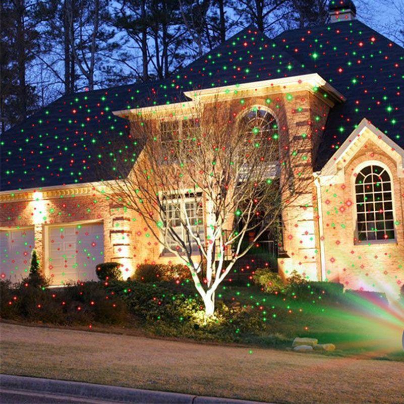 Tanbaby Weihnachten Fee Laserlicht Projektor Moving Sterne Partei Scheinwerfer Wasserdichte Backyard Patio Landschaft
