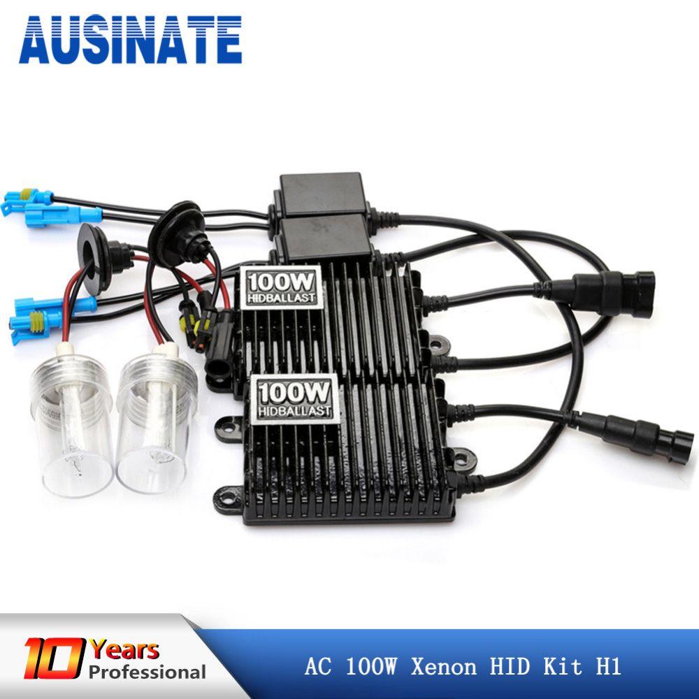 12v 100w xenon h1 brightest 4300K 6000K hid conversion kit with square ballast , 100w hid kit h1 xenon lamp bulb