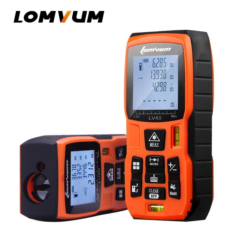 LOMVUM 40M 60m 80m <font><b>100m</b></font> Laser Rangefinder Digital Laser Distance Meter battery-powered laser range finder tape distance measurer