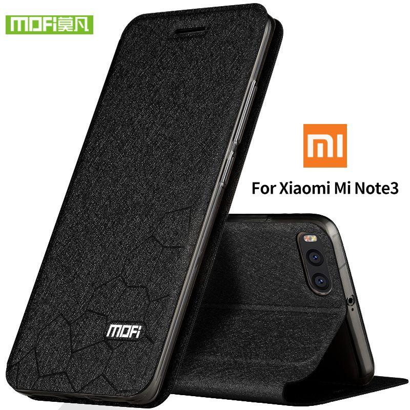 Для Xiaomi Mi Note 3 чехол Xiaomi Mi Note 3 Pro кремния Роскошные кожи сальто Оригинальный MOFI Xiaomi Mi Note 3 чехол на 360 защитит