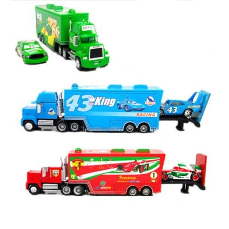 Hot Sale Cartoon Cars 3 Brio Mack Truck Metal Toy Car Diecast Model Trucks Toys for Children Collection Kids Christmas Gift