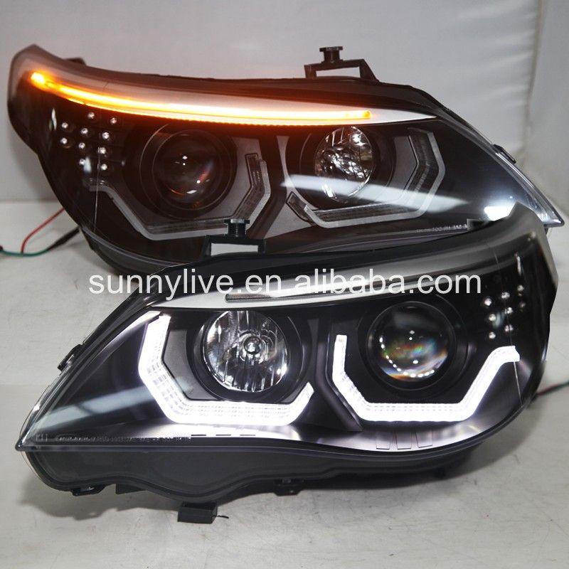 2008-2010 jahr E60 523i 525i 530i LED Kopf Licht Für BMW e60 original Mit HID KIT