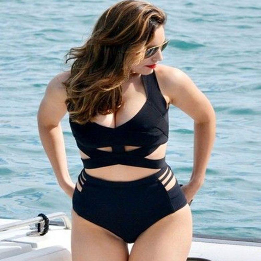 XL-XXXL Большие размеры бикини с высокой талией купальник для женщин купальники 2017 леди пляжная бразильские Плавки бикини Push Up Бикини Набор