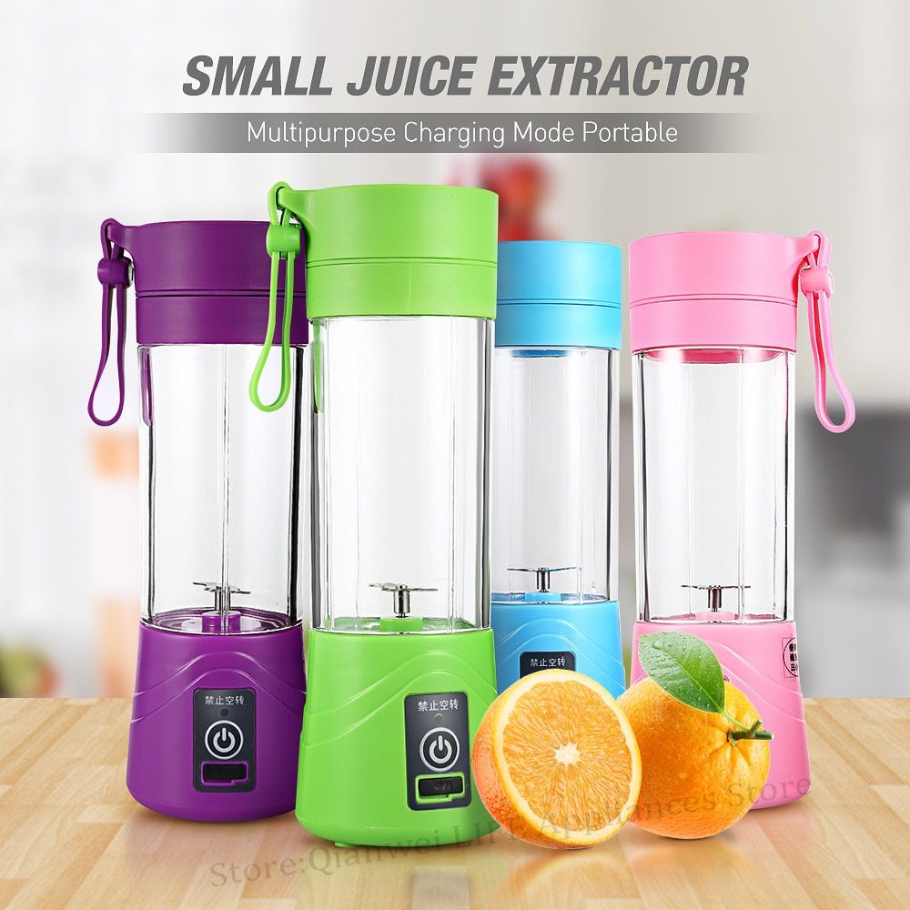 Multipurpose Portable Juicer Blender Extractor Machine USB Charging Household 380ml Egg Whisk/Food small Cut Mixer Juicer Cup