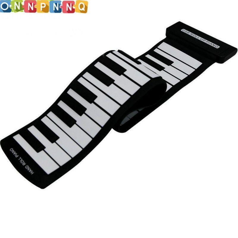 61 Touches Flexible Silicon Roll Up Piano De Silicium Préliminaire Électronique Outil de Formation Professionnel Musicial Instrument