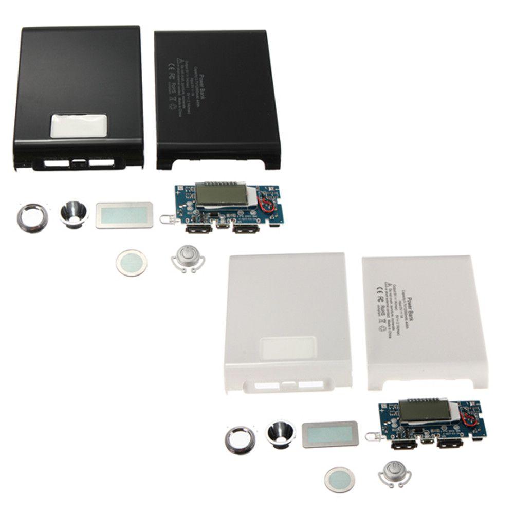 Universel Double USB DIY 4X18650 Puissance Banque Cas LED 5 V 1A 2.1A Chargeur Boîte pour iPhone Tablet MP3 4 Smart Dispositif Pour Samsung