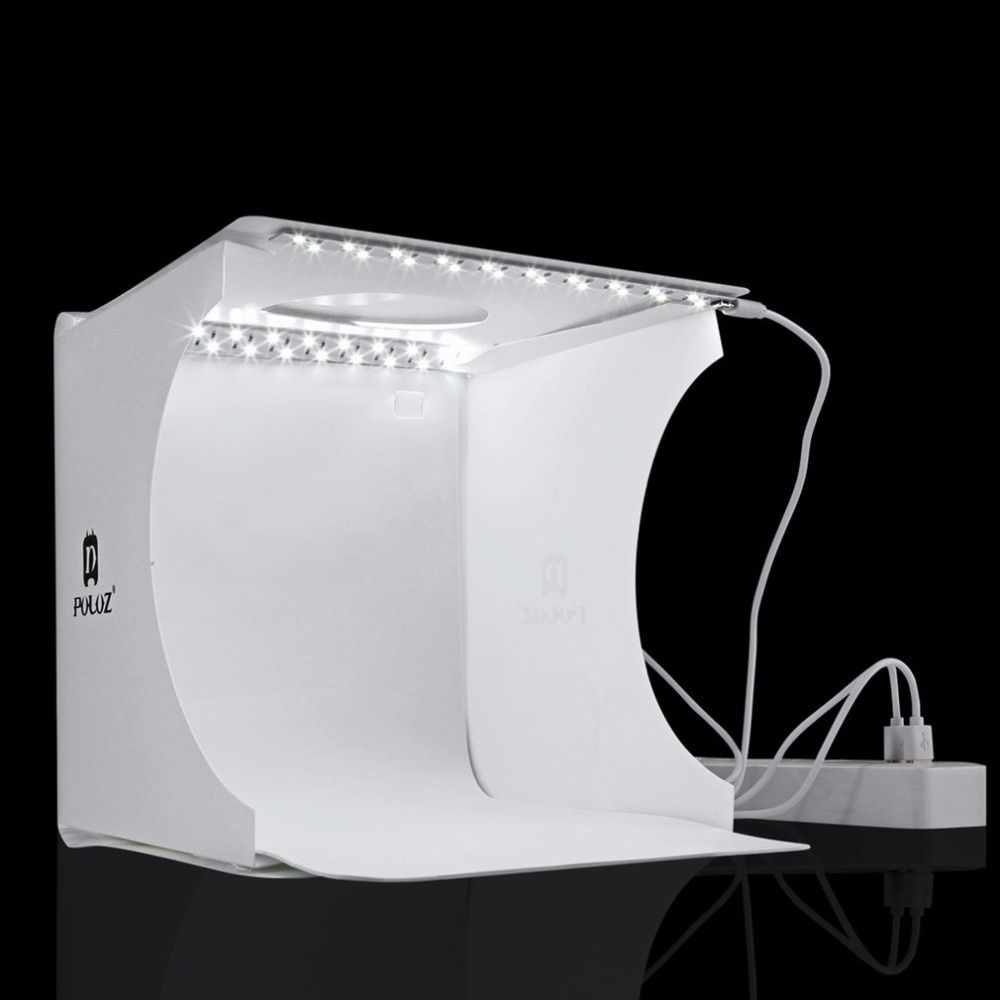 PULUZ Foldable Design Mini Small Size LED Photography Studio Box Lamp Box for SLR Cameras Digital Camera Light BOX Accessories