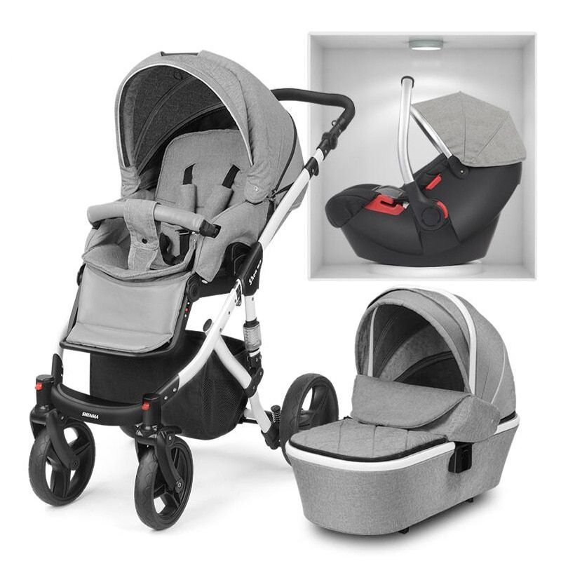 Shenma baby stroller 2 in 1 3 in 1 can sit lying double-sided shock absorber folding portable newborn aluminum frame multifuncti
