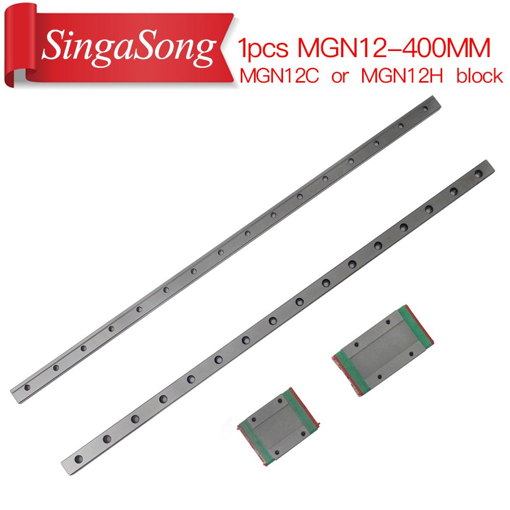 12mm Linear Guide MGN12 400mm L= 400mm for linear rail way + MGN12C or MGN12H for Long linear <font><b>carriage</b></font> for CNC X Y Z Axis