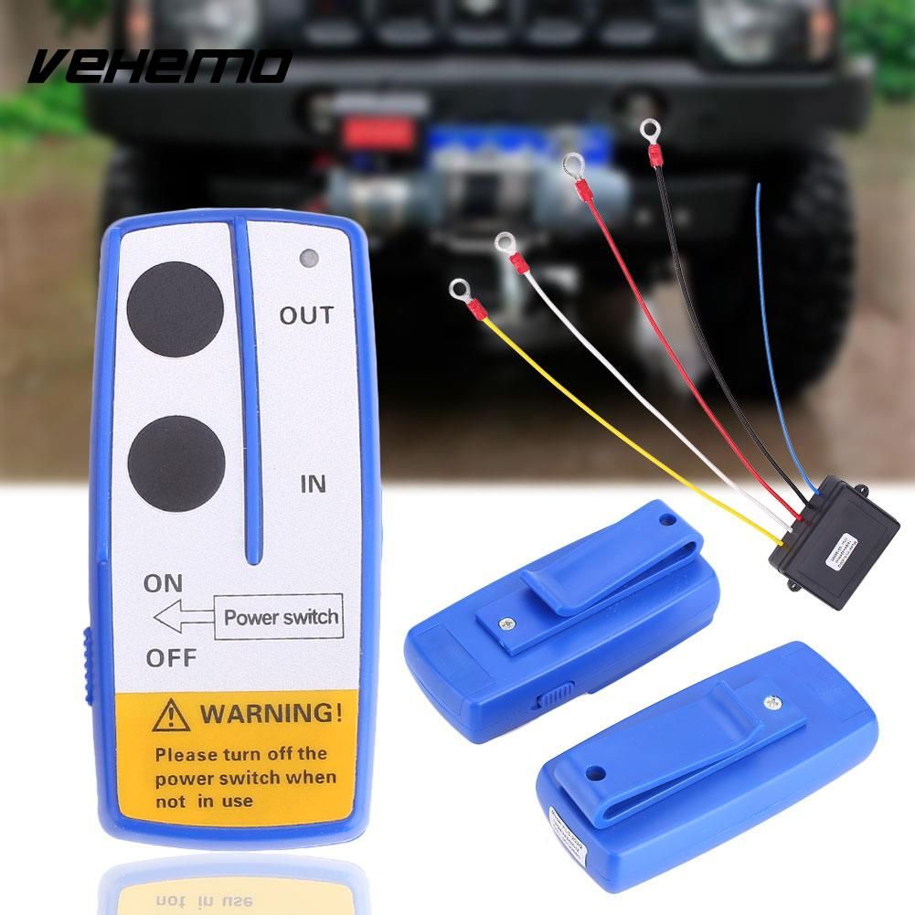 Auto Car Wireless Electric Winch Controller 434MHz with Remote Control
