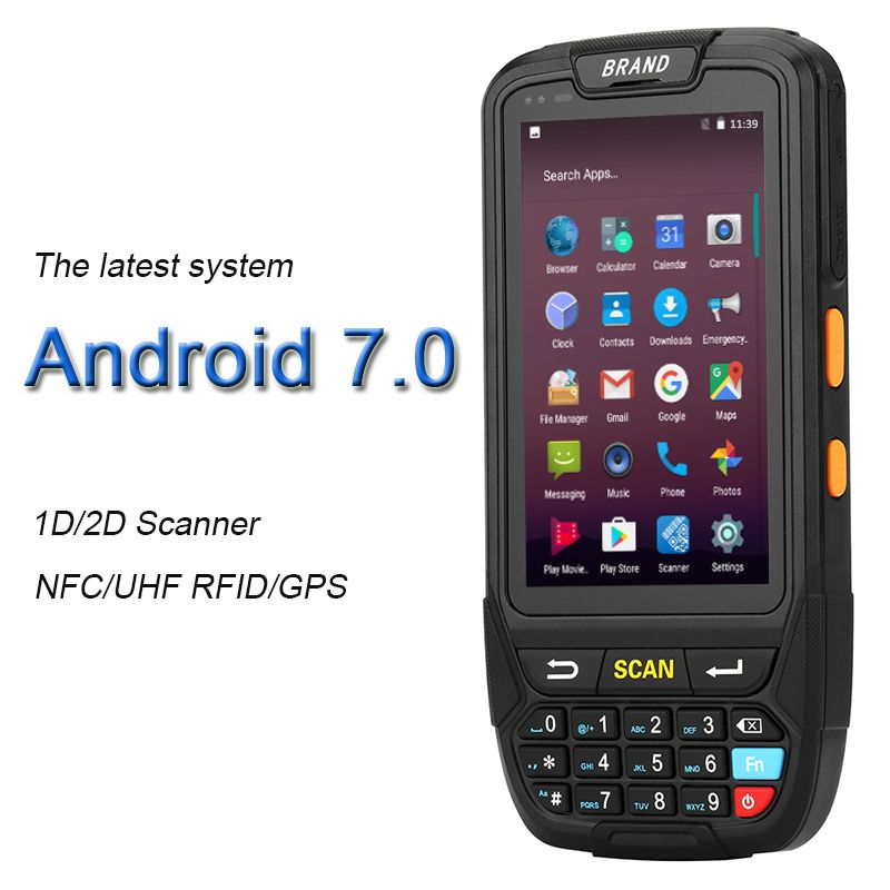 GZPDA01 Android 7.0 PDA Handheld Terminal Rugged PDA Wireless Data Collector Mobile 1D cordless scanner 2D Reader WifiBluetooth
