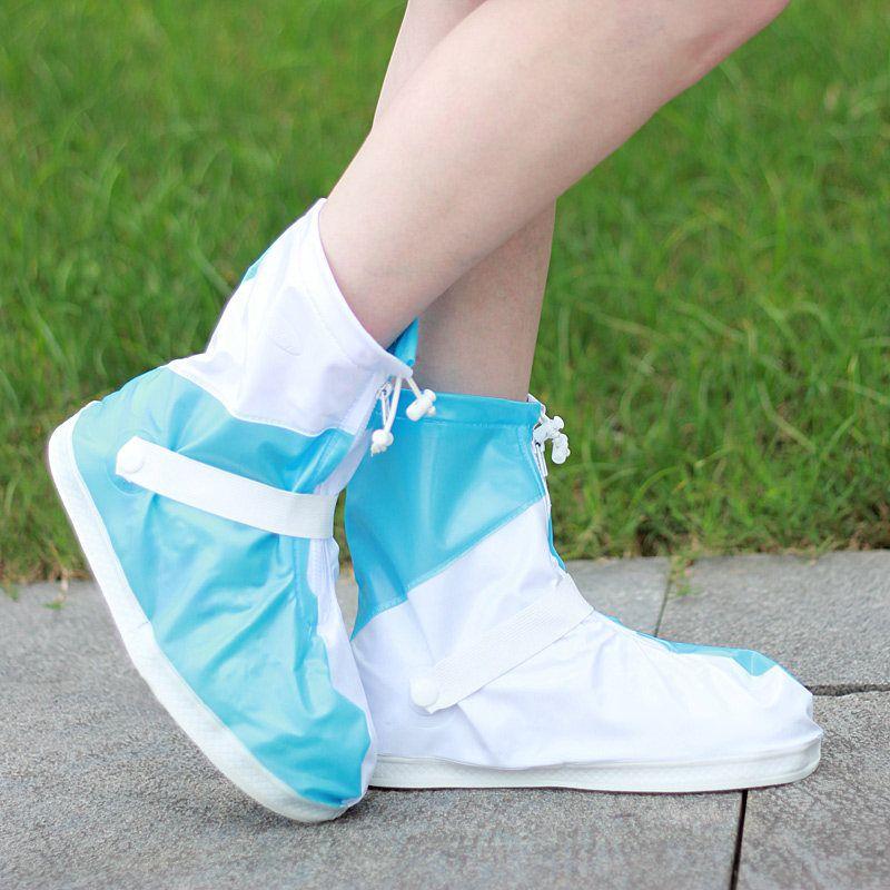 Women Men Fashion Colorful Waterproof Rain Shoe Covers for Hiking Biking Freesmily