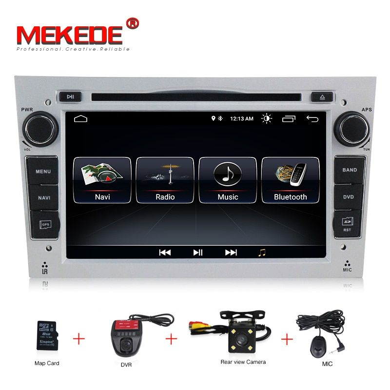 HD 1024*600 Octa Core 2din Android 8.0 Car DVD Player For Opel Corsa Vectra C D Meriva Vivaro Tigra Radio GPS Navi 8G map