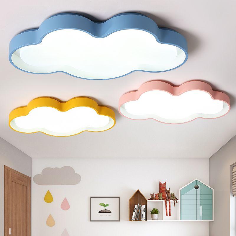 Macarons color Clouds LED Ceiling chandelier Modern led Chandelier lighting kids room bedroom Home Decoration lustres para sala