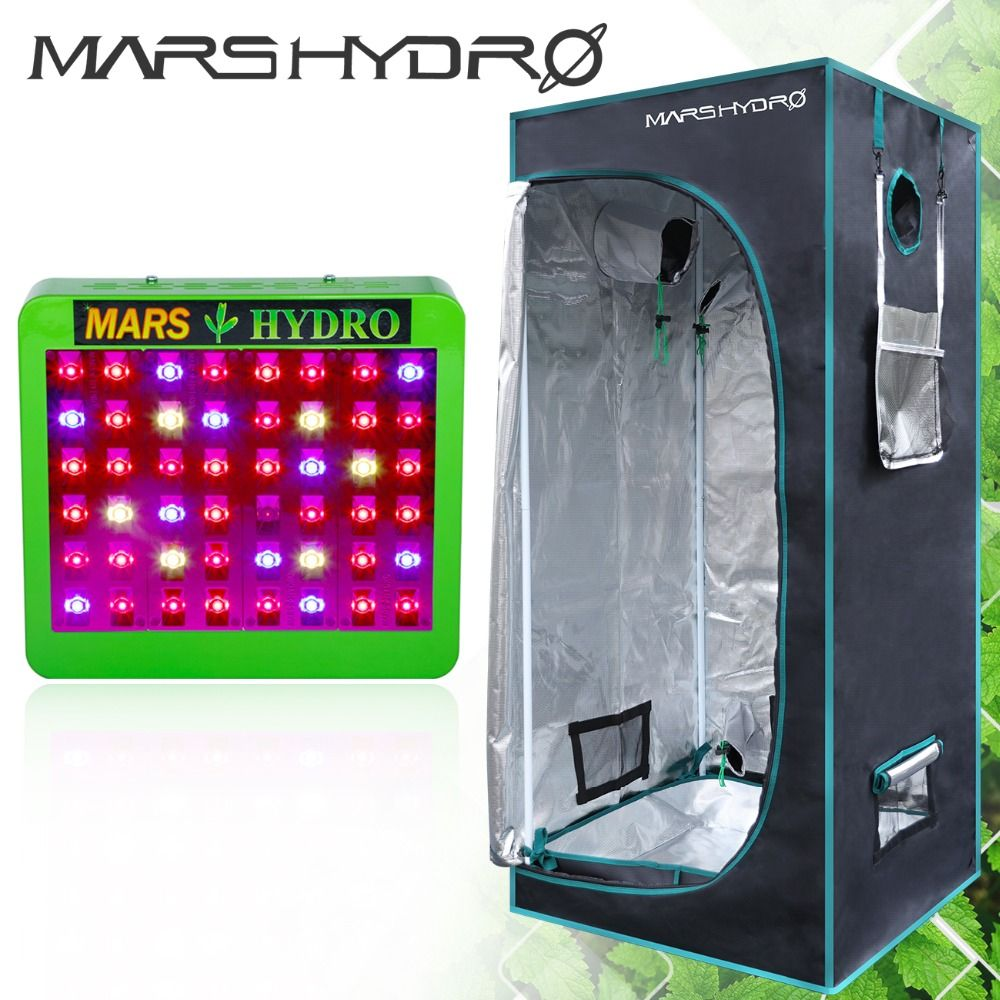 Mars Hydro Reflector 240W LED Grow Light Full Spectrum Switches+70*70*160cm grow tent