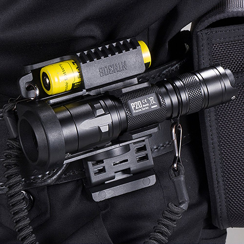 NITECORE P20 Tactical LED Flashlight Waterproof 18650 Outdoor Camping Hunting Portable With NTH30B + 2300mah Battery package
