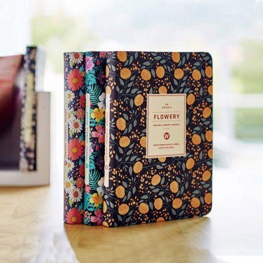 2019 nouveauté mignon PU cuir Floral fleur calendrier livre journal hebdomadaire planificateur cahier école fournitures de bureau papeterie