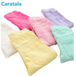 Caratala 8 colors Good Quality Children Pants Girls Pants Solid Candy Color Causal For  Girls Leggings