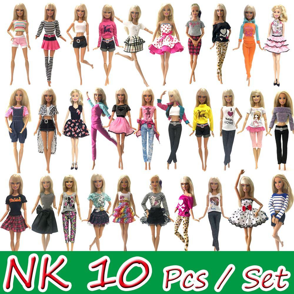 NK 10 pièces princesse poupée robe Noble fête robe pour Barbie poupée accessoires mode Design tenue meilleur cadeau pour fille poupée JJ