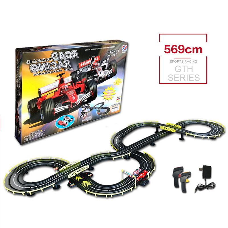 GTH 569 RC Car Track Toys Double People Playing Game Toy High Speed Racing Car Track Carro de brinquedo With Electric Control