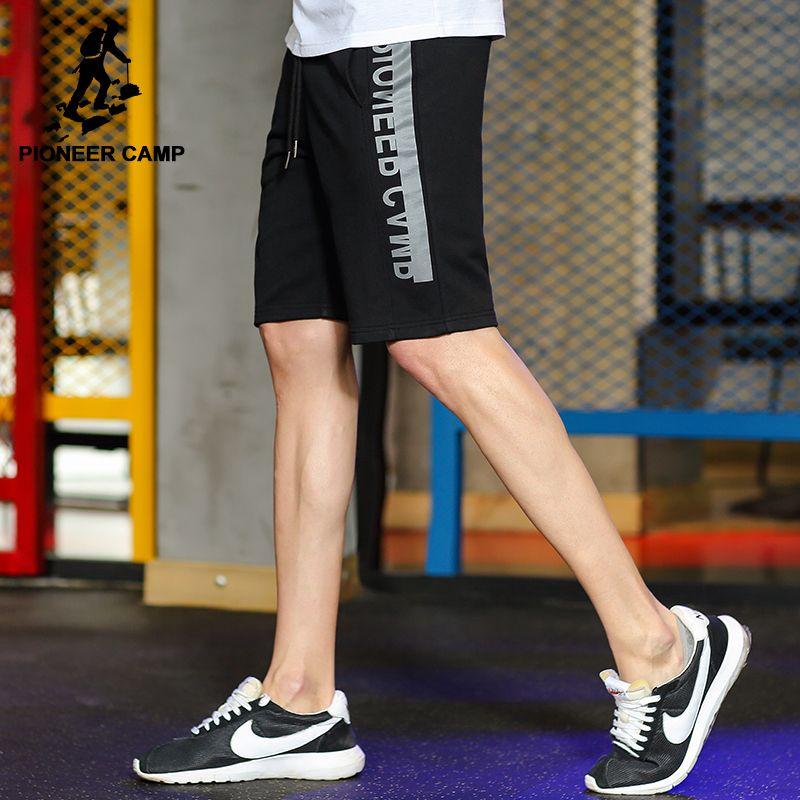 Пионерский лагерь новый дизайн летние шорты брендовая мужская одежда мода печатных тренировки Шорты мужской наивысшего качества черный се...