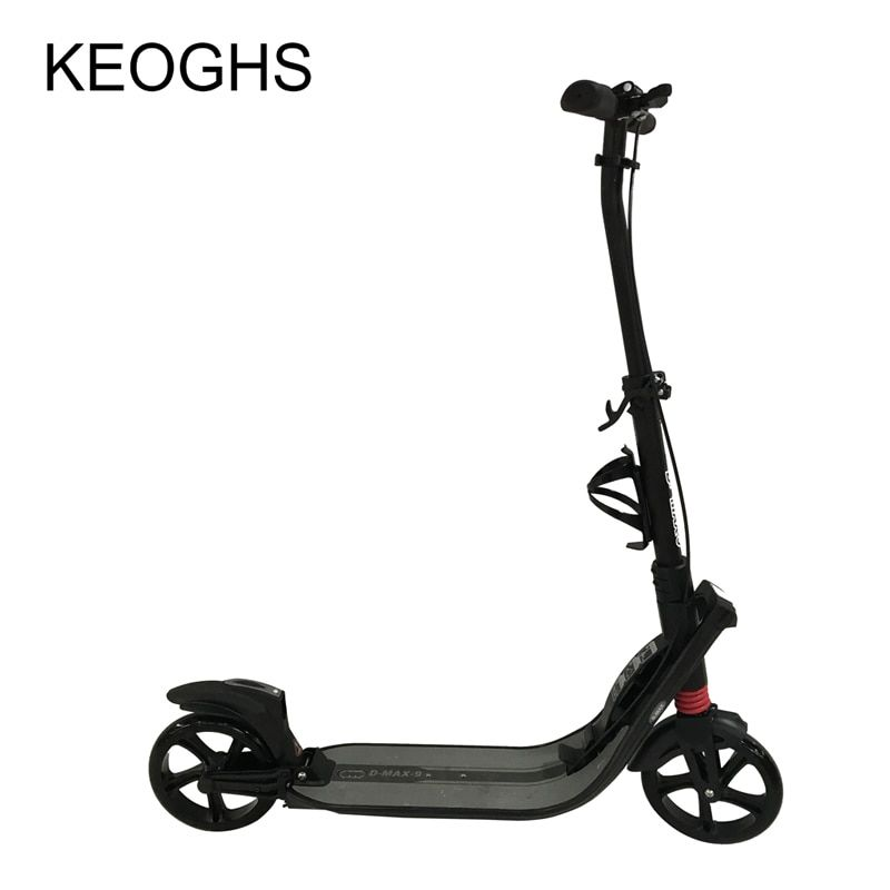 adult children kick scooter NEW pattern foldable PU 2wheels Hand brake bodybuilding all aluminum urban campus transportation