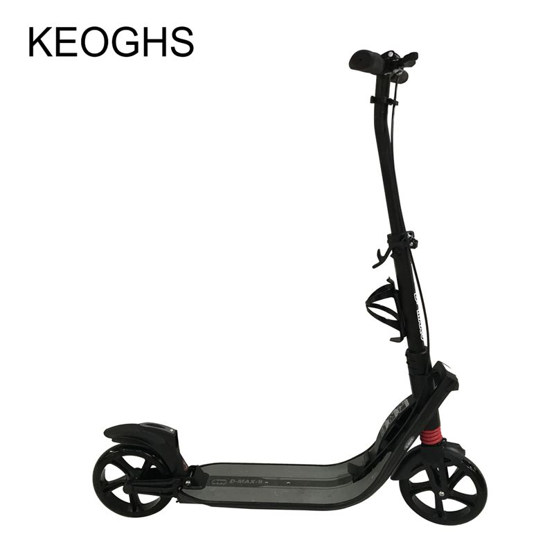 adult children kick scooter NEW pattern foldable PU 2wheels Hand <font><b>brake</b></font> bodybuilding all aluminum urban campus transportation