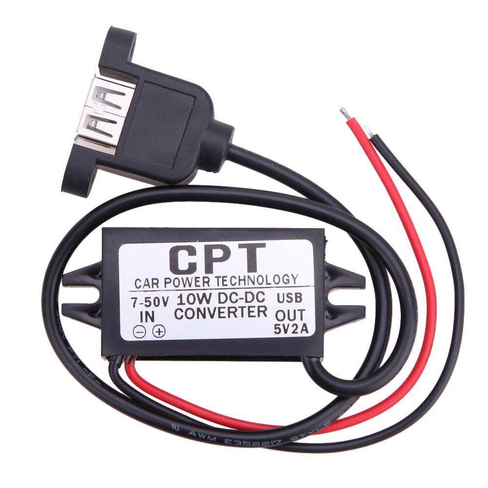 CPT-HUL-5 Fahrzeug Wasserdicht Stromversorgung Nicht isoliert Buck Modul (Einzigen Usb-buchse Mit Montage Ohren) für Auto gerät