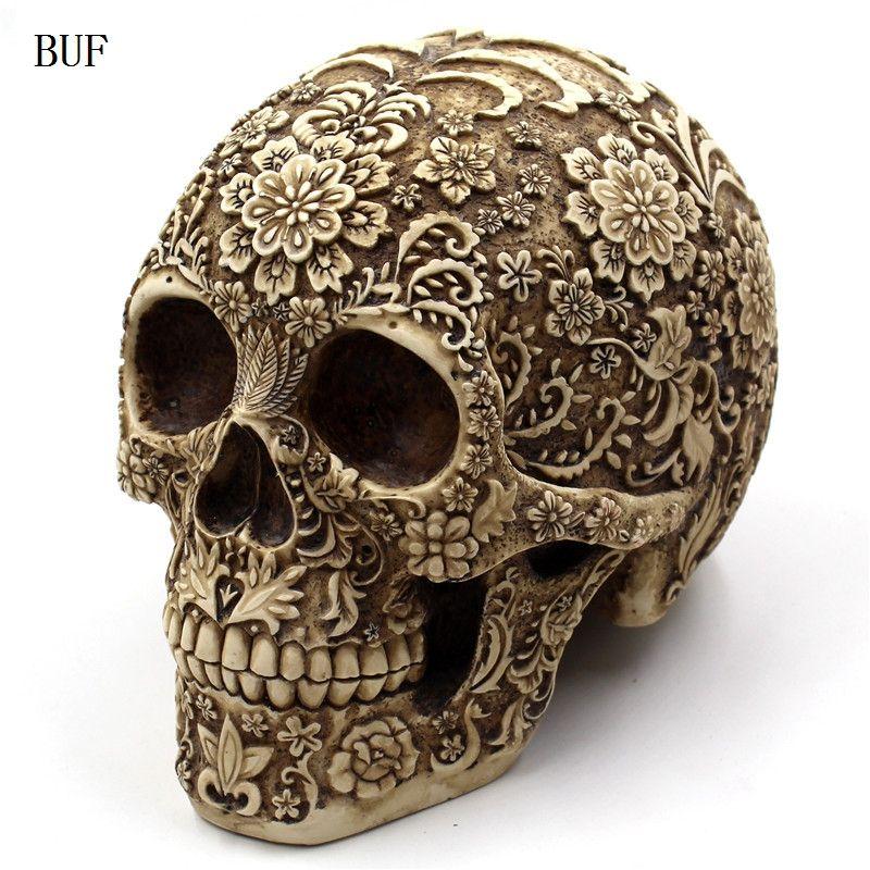Skull Ornaments Resin Craft Halloween Decoration Skull Statues Creative Bar Decoration Skull Statue statues & sculptures