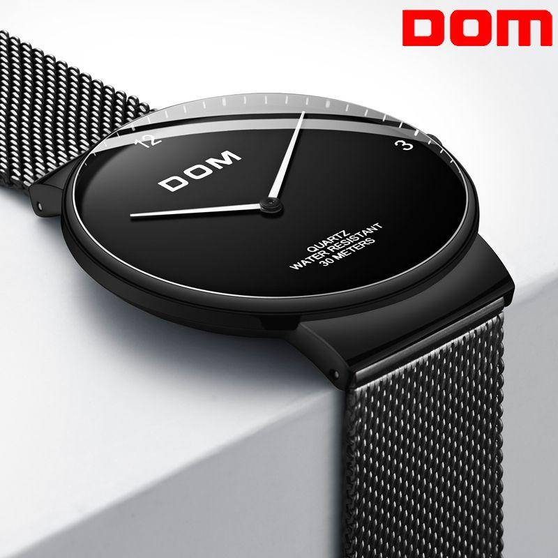 Relogio masculino Luxus Marke Analog Sport Armbanduhr Ultra-dünne gebogene spiegel männer Quarzuhr Geschäfts Uhr Männer Uhr