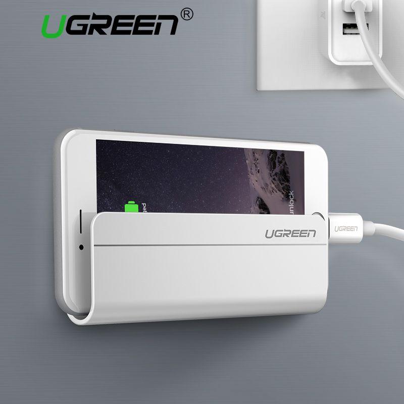 Ugreen Universal Wand Montiert Handyhalter Ladestation mit 3 Mt klebstoff für iPhone 8X7 Plus Samsung Galaxy Huawei Tablet
