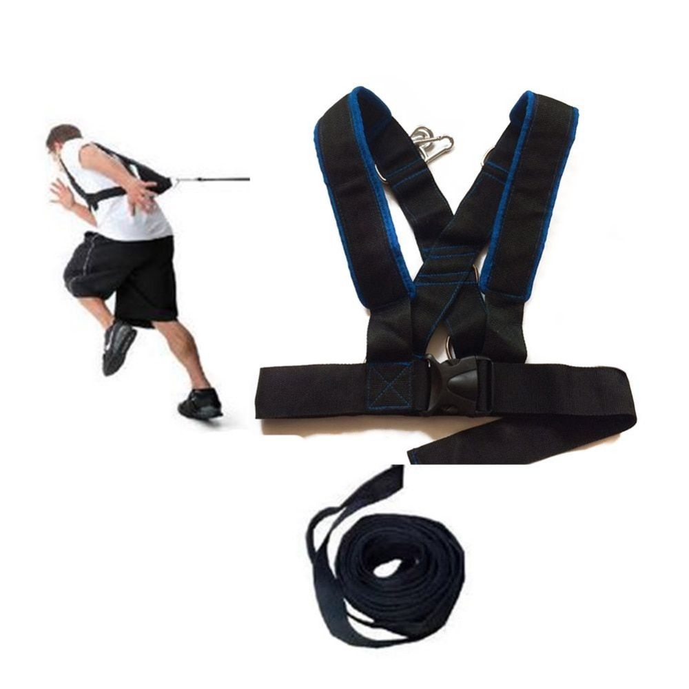 Fitness Running Training Speed Sled Shoulder Harness Set For Athletic Exercise Crossfit Bodybuilding Outdoor Equipment