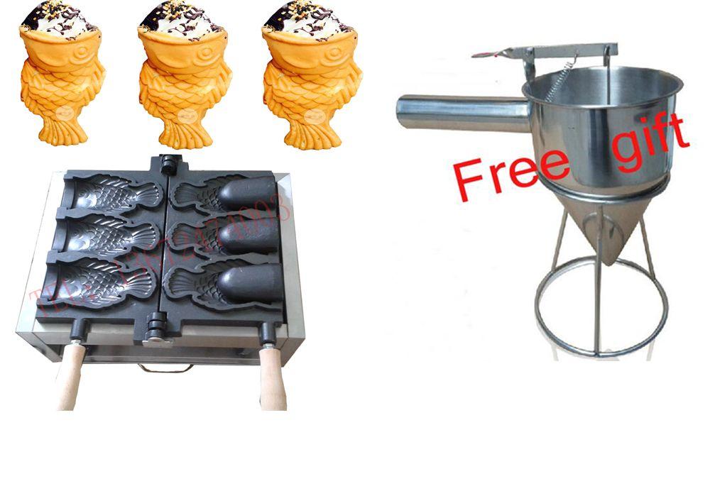 Kaufen maschine freies erhalten 6 geschenke!! Electrec eis Taiyaki maschine Fisch waffeleisen