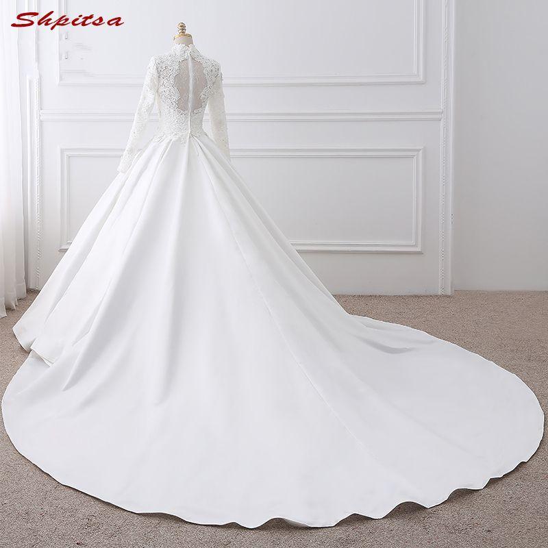 Long Sleeve Lace Wedding Dress Ball Gown Wedding Gowns Weeding Weding High Neck Bridal Bride Dresses Weddingdress