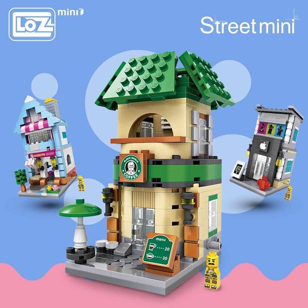 LOZ Mini Blocs Ville Mini Rue Building Block Éclairent Briques Architecture jouets éducatifs pour Enfants Maison Jouets & Loisirs