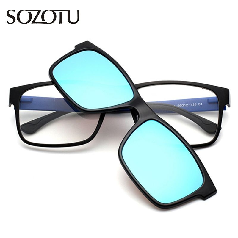 TR90 optique lunettes cadre hommes femmes Clip sur aimants lunettes de soleil polarisées myopie lunettes cadre de lunettes pour homme YQ189